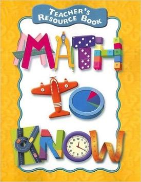 Math to Know Teacher's Resource Book