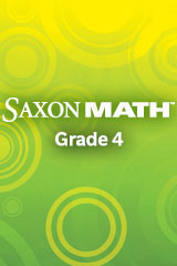 Saxon Math Intermediate 4 Online Adaptations Student Workbook