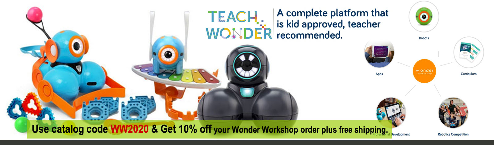Make Wonder with Dash, Dot and Cue