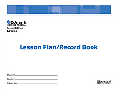 Edmark Reading Program: Level 1 Second Edition Lesson Plan / Record Book | Special Education