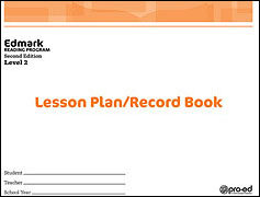 Edmark Reading Program: Level 2 Second Edition Lesson Plan / Record Book | Special Education