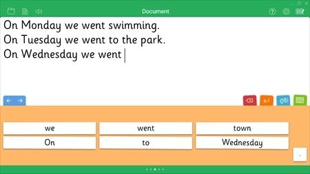 Clicker Sentences for Chromebooks   Language Arts / Reading