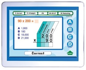 Mastering Math Skills - Grade 4 Interactive Whiteboard CD - Site License | Math