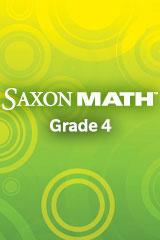 Saxon Math Intermediate 4 Online Adaptations Student Workbook | Math