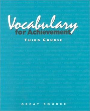 Great Source Vocabualry for Achievement Workbook Grade 9 | Language Arts / Reading