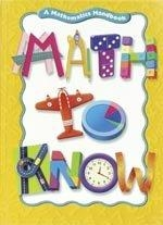 Great Source Math to Know Student Edition   Math