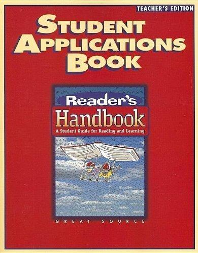 Reader's Handbooks Approach Teacher's Edition Grade 6 | Language Arts / Reading