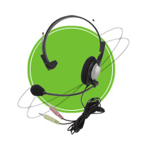 NC-181 Anti-Noise PC Noise Canceling Headset | Headphones & Listening Centers