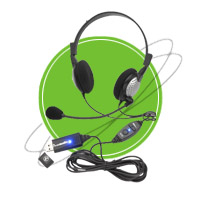 NC-185VM USB Stereo PC Headset with Noise Canceling Microphone | Headphones & Listening Centers