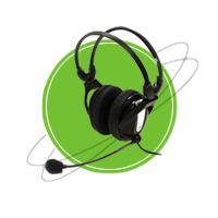 NC-250V Circumaural Stereo Headset | Headphones & Listening Centers