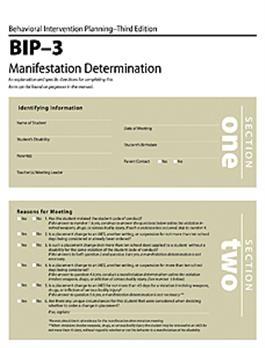BIP-3 Manifestation Determination Forms (25) | Special Education