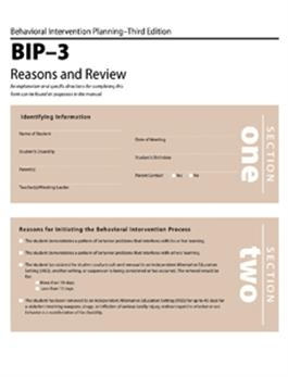 BIP-3 Reasons and Review Forms (25)   Special Education