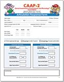 CAAP-2: Articulation Response Forms (25) | Special Education