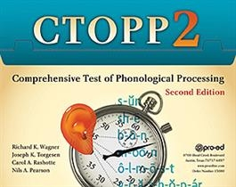 CTOPP-2: Comprehensive Test of Phonological Processing Second Edition | Special Education