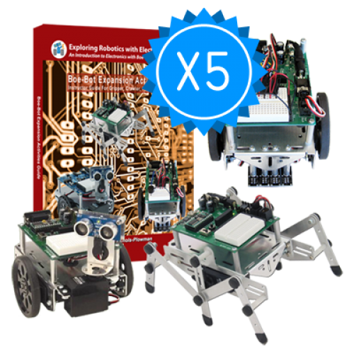 Boe-Bot Engineering Kit 5 Pack Bundle | Exploring Robotics