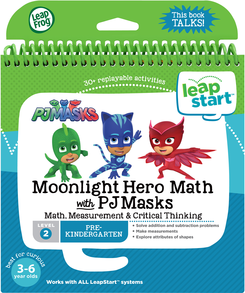 LeapFrog LeapStart 3D Moonlight Hero Math with PJ Masks Book | Math