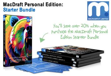 MacDraft Personal Edition Starter Bundle