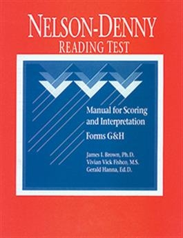 NDRT: Nelson-Denny Reading Test Manual for Scoring and Interpretation   Special Education