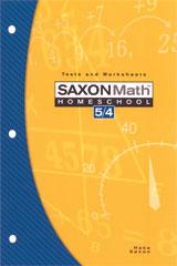 Saxon Math 5/4 Homeschool Testing Book 3rd Edition | Math