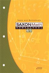 Saxon Math 6/5 Homeschool Testing Book 3rd Edition | Math