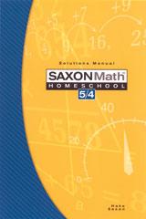 Saxon Math 6/5 Homeschool Solution Manual 3rd Edition 2005 | Math