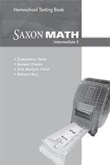 Saxon Homeschool Intermediate 5 Testing Book Grade 5 | Math