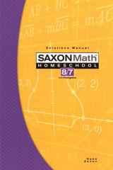 Saxon Math 8/7 Homeschool Solution Manual 3rd Edition 2005 | Math