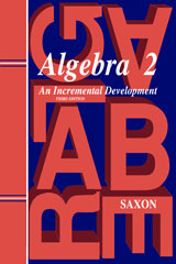 Saxon Algebra 2 Homeschool Kit Third Edition | Math