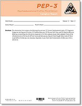 PEP-3 Caregiver Report Forms (10) | Special Education