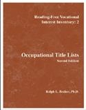 R-FVII:2 Occupational Title Lists | Pro-Ed Inc
