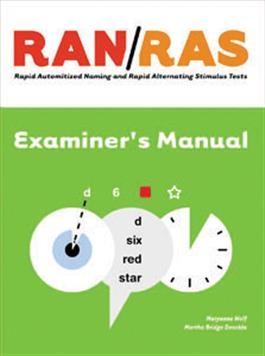 RAN/RAS Examiner's Manual | Special Education