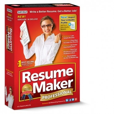 resume maker professional deluxe 18 individual software