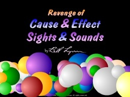 Revenge of Cause & Effect-Sights & Sounds | Special Education