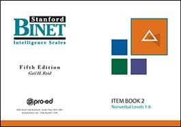 SB5 Item Book 2 (Nonverbal Subtest)   Special Education