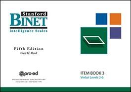 SB5 Item Book 3 (Verbal Subtest) | Special Education