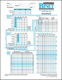 SB5 Record Forms (25) | Special Education
