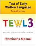 TEWL-3 Examiner's Manual | Special Education