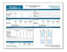 TGMD-2 Profile/Examiner Record Booklets (50)   Special Education