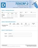 TOSCRF-2: Student Record Forms D (25)   Special Education