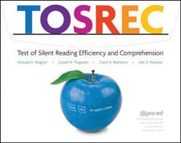 TOSREC Grade 1: Test of Silent Reading Efficiency and Comprehension | Special Education
