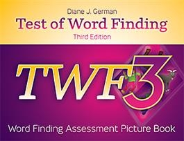 TWF-3 Word Finding Assessment Picture Book | Special Education