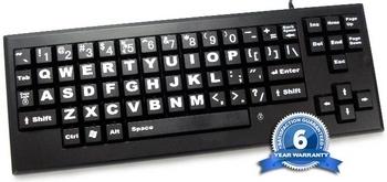 VisionBoard Large Key Keyboard - Black | Keyboards & Mice