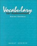 Image Great Source Vocabualry for Achievement Workbook Grade 9
