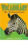 Image Vocabulary for Achievement Teacher's Edition Grade 5