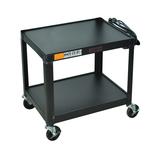 Image Fixed Height AV Steel Cart 2 Shelves
