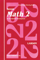 Image Saxon Math 2 Homeschool Student's Meeting Book 1st Edition