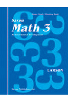 Image Saxon Math 3 Homeschool Student's Meeting Book 1st Edition