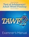 Image TAWF-2: Examiner's Manual