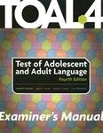 Image TOAL-4 Examiner's Manual